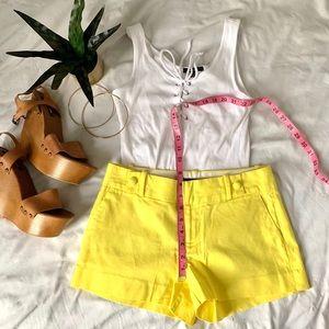 Yellow banana republic shorts
